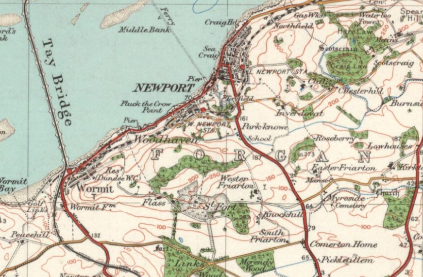The Newport, Wormit & Forgan Archive on scottish national parks map, scotland map, scottish airports map,
