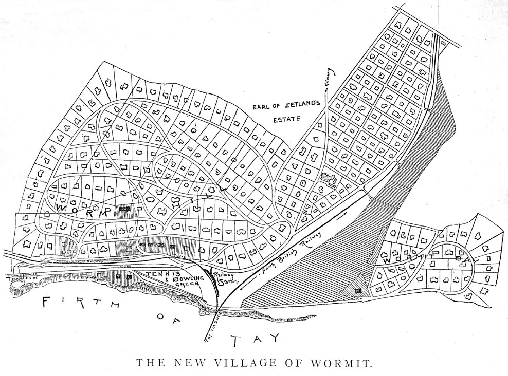 Wormit Map 1889